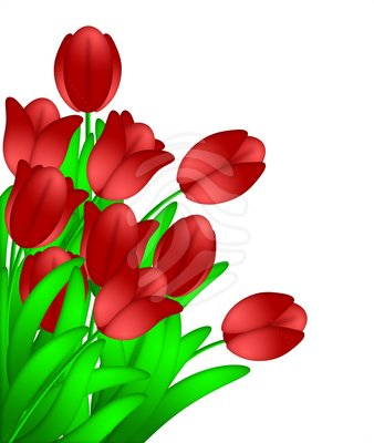 red flower clip art cliparts