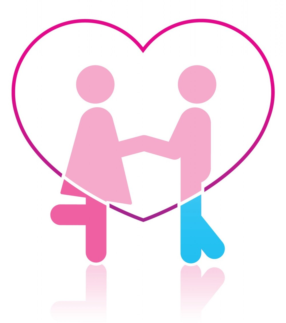 medium resolution of two people in love clipart