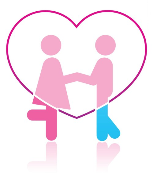 small resolution of two people in love clipart