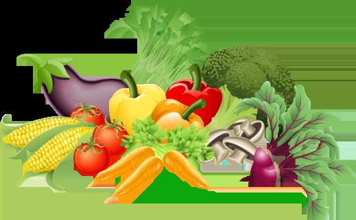 vegetables border clipart
