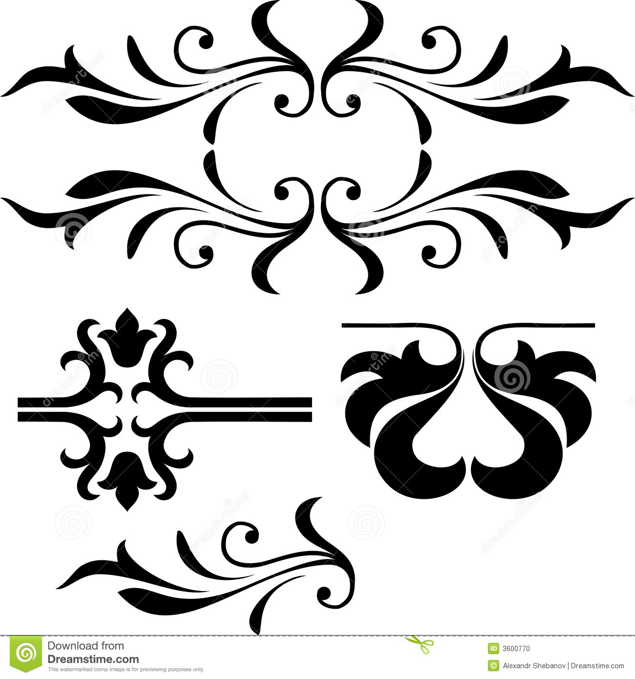 Victorian Scroll Design Clipart Panda