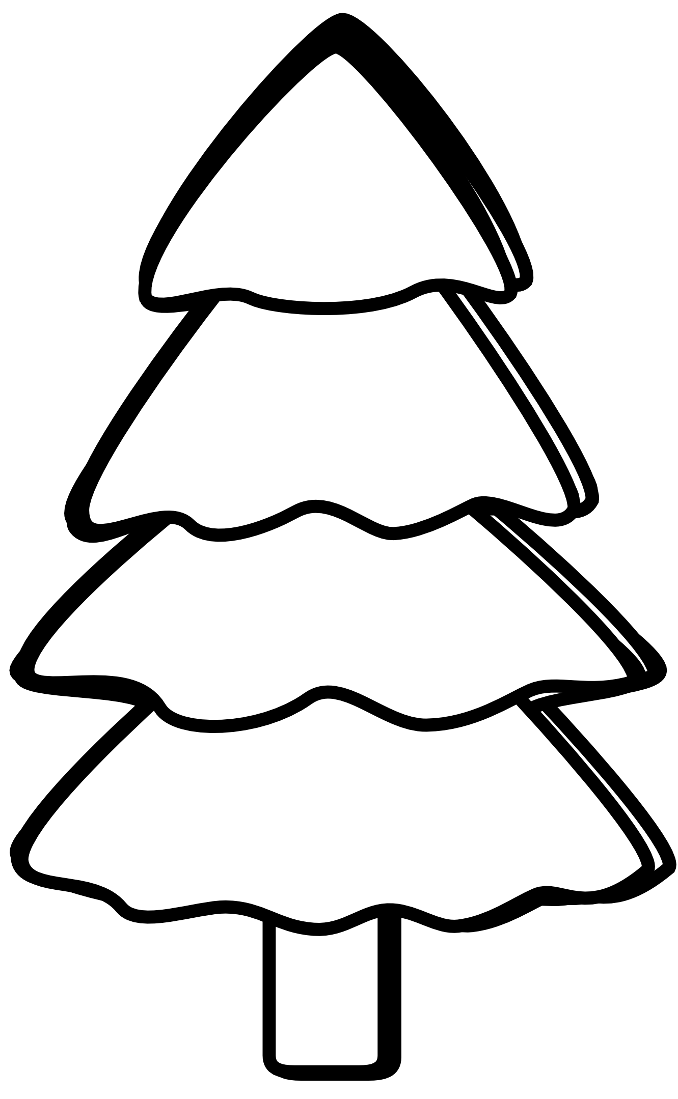 Simple Black And White Tree Clipart Panda