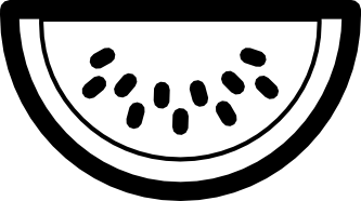 watermelon clipart black and