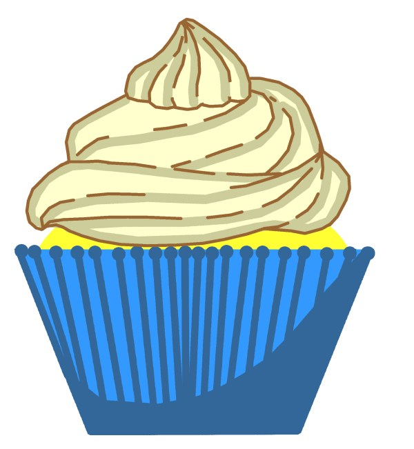 cupcake with candle clip art