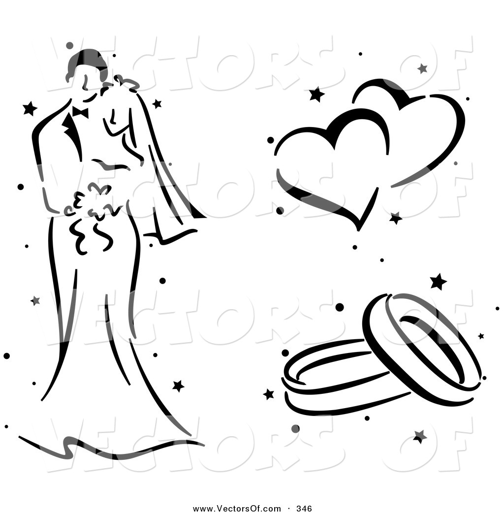 Wedding Hearts Clipart Black And White