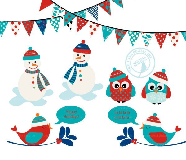 winter clip art free printable
