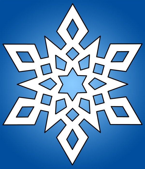 snowflake clipart black and white
