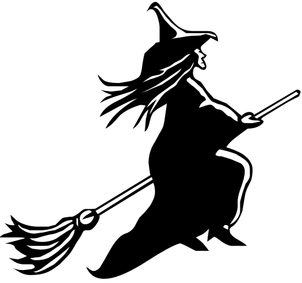 witch broom clipart panda