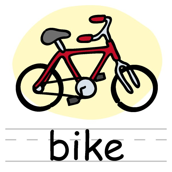 Bike Clip Art Word