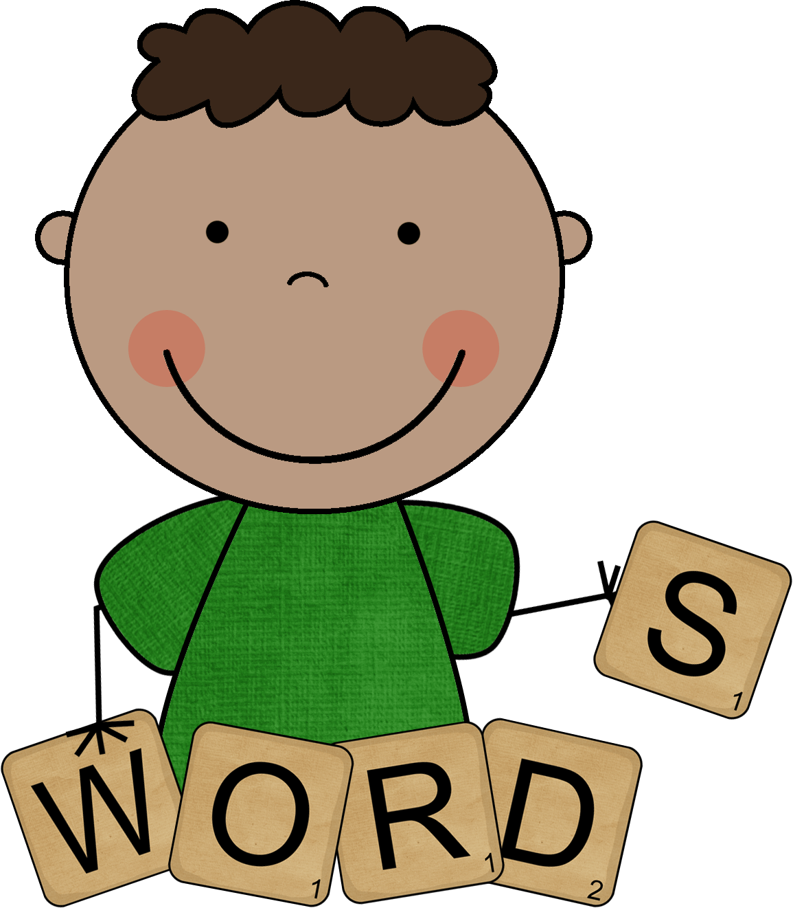 hight resolution of word family clip art