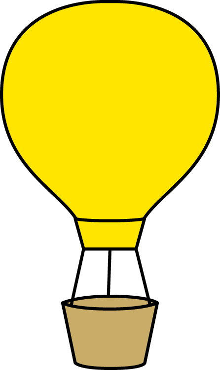 hot air balloon border clip art