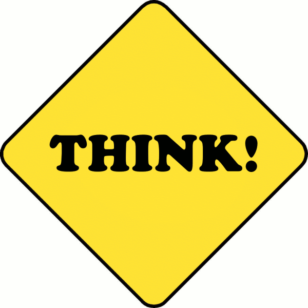 Think Sign Clip Art Free