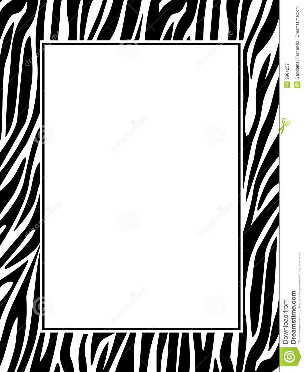 Zebra Print Clipart Clipart Panda