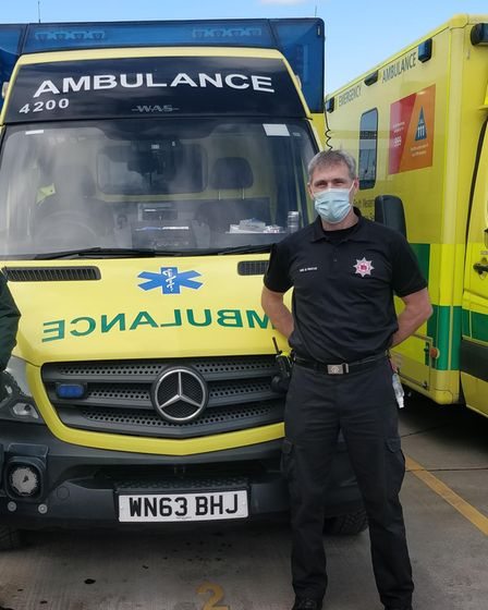 Firefighter Steve Alford has been assisting the South West Ambulance Service Trust