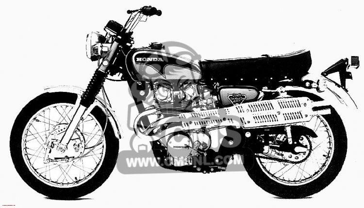 Honda CL450 SCRAMBLER 1971 K4 USA information