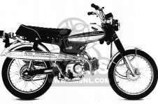 Honda Cl70 Scrambler K2 1971 Usa parts list partsmanual