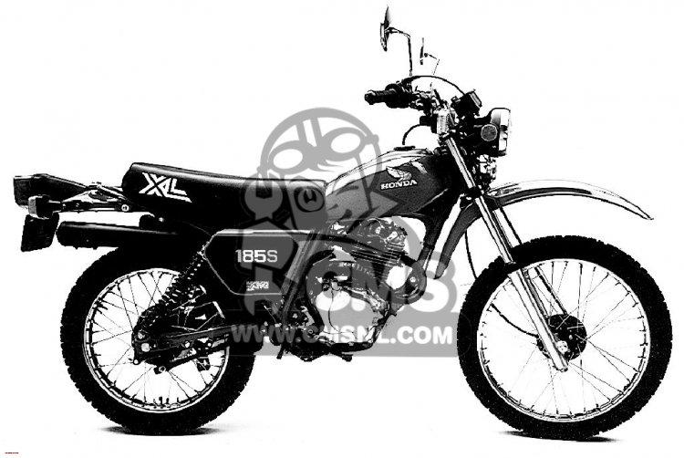 Honda XL185S 1982 (C) USA information