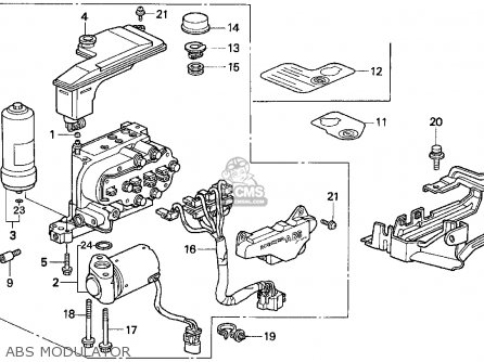 SET,ABS MOTOR, fits ACCORD E2/V-6 E2 1994 (R) 4DR LX ABS