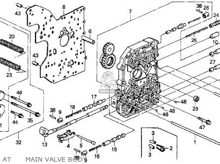 MAIN VALVE BODY S for ACCORD 1990 (L) 2DR DX (KA,KL