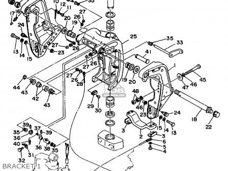 BOLT, CLAMP BRACKET for F200/F225/LF200/LF225TXRA,F225