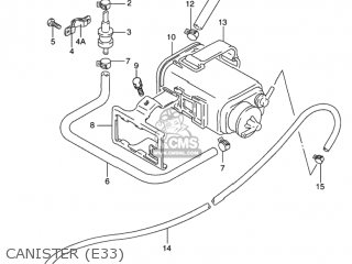 CANISTER ASSY,CHARCOAL for GS500 2001 (K1) USA (E03