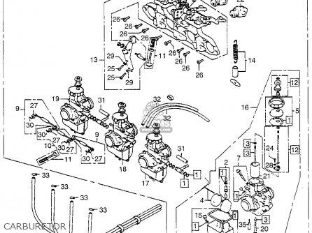 Carburetor Assy. Cb750k 750 Four K 1978 Usa 16100300034