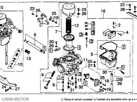 CARBURETOR ASSY., R. for CB400A HAWK HONDAMATIC 1978 USA