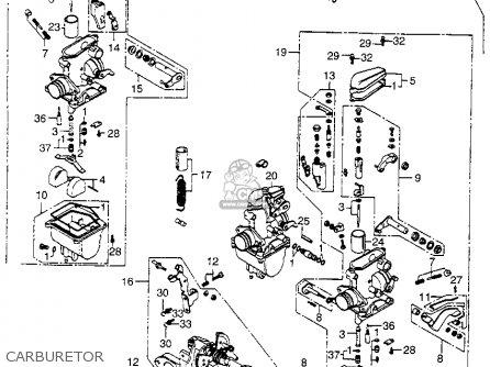 CARBURETOR ASSY. 2 for CB400F SUPER SPORT 400 FOUR 1975