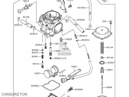 CARBURETOR-ASSY for KLX250D1 KLX250R 1993 EUROPE UK
