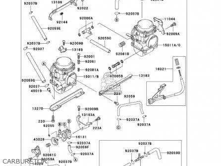 CARBURETOR,LH, fits EX250F15 NINJA 250R 2001 USA
