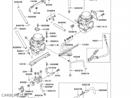 CARBURETOR-ASSY, fits EX250F15 NINJA 250R 2001 USA