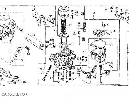 CARBURETOR ASSY,R for CB400N SUPERDREAM 1980 (A) ENGLAND