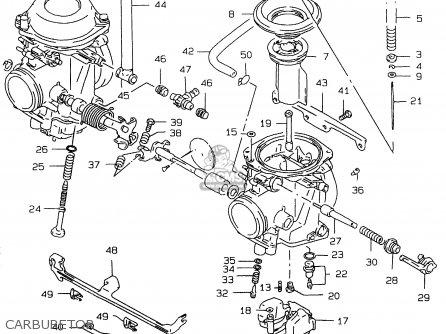 (1320202d60) Carburetor,rh. Gs500e 1997 (v) (e02 E04 E22