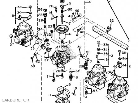 CARBURETOR ASSEMBLY 1 (5N8-14901-00) for XJ650 MAXIM 1982
