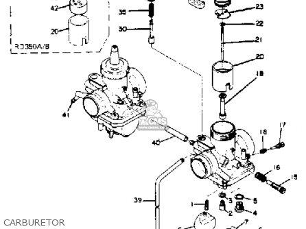 Carburetor Assembly, Right 213364~ Black Rd350 1973 Usa