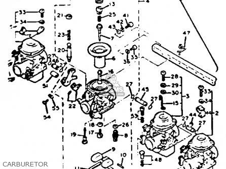 Carburetor Assembly Xj750 Maxim 1982 (c) Usa 15R1490000