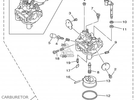 CARBURETOR ASSY 1 for EF4000DE 7VW2 YG4000D 7VW2 GENERATOR