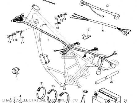 Wiring Harness,rear Kz305b1 Csr 1982 Usa / Belt Drive 26002041