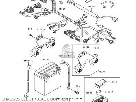 260111640 (260111663) Wire-lead,battery(+) Kawasaki