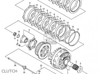WASHER,CLUTCH PLATE WAVE for DL1000 VSTROM 2007 (K7) USA