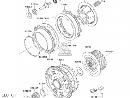 PLATE-FRICTION for ZX1200A1 ZX12R 2000 USA CALIFORNIA