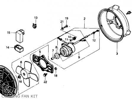 CONTROL UNIT,FAN for TRX300 FOURTRAX 300 1989 (K) USA