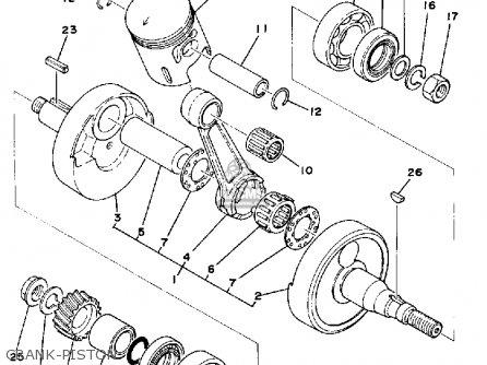 Piston (1st O/s) Dt125e 1978 2A61163500