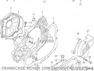 COVER COMP,ENGINE SPROCKET for DR-Z400 2003 (K3) USA (E03