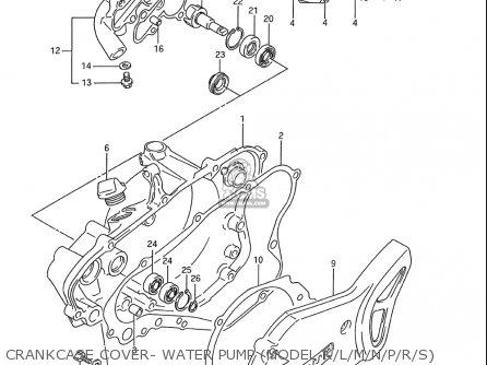 Seal,water Pump Oil Rm85 ,l (usa) 1746103B00
