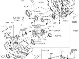 SET-CRANKCASE for RM-Z250 2006 (K6) USA (E03) RMZ250 RM
