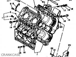 CRANKCASE ASSY for RD500LC 1985 1GE EUROPE 251GE-300E1