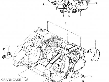 CRANKCASE SET for TS50XK 1988 (J) (E01 E02 E16 E18 E21 E25