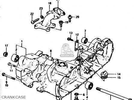 CRANKCASE SET,RIGHT for FZ50 1986 (G) (E01 E16 E24 E25 E26