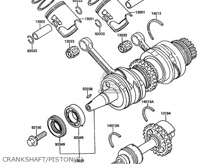 PISTON-ENGINE for KR250B2 KR1 1989 EUROPE UK FR GR IT